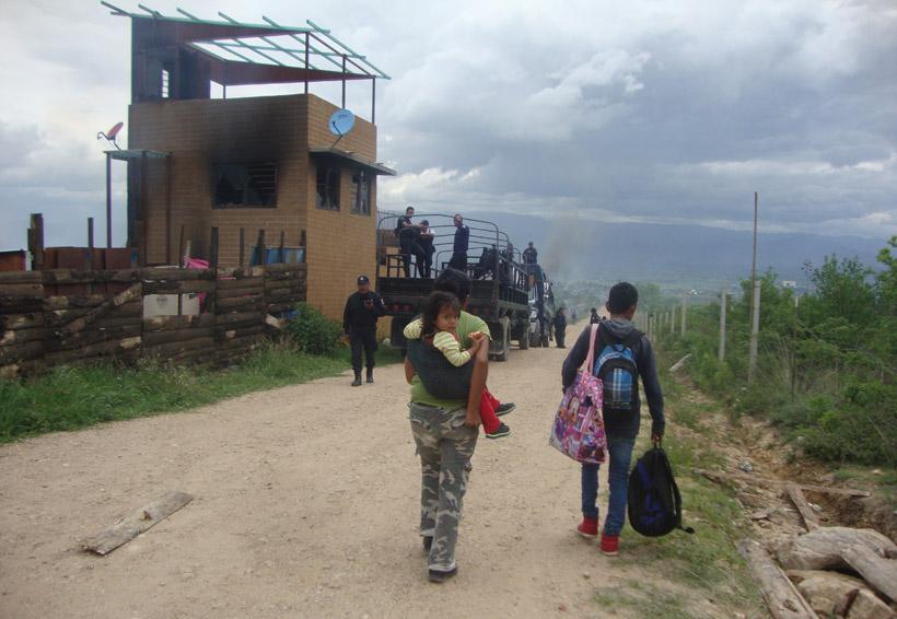 Arrasan con trinchera del FP 14 de Junio | El Imparcial de Oaxaca