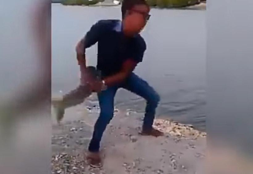 Video: Joven lanza a un perro al agua; vecinos cobran venganza | El Imparcial de Oaxaca