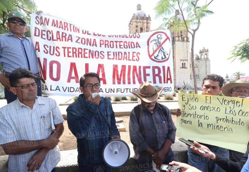 Ejidatarios se manifiestan para defender sus tierras de empresas mineras en Ejutla y Ocotlán | El Imparcial de Oaxaca