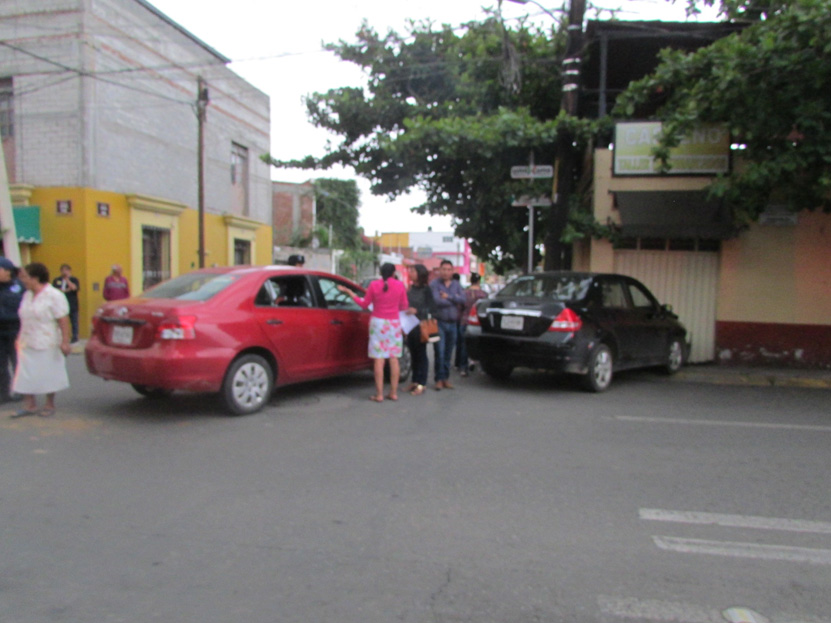 Colisión en el barrio La Noria | El Imparcial de Oaxaca