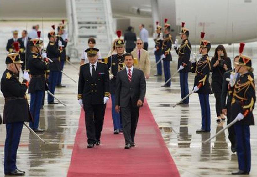 Peña Nieto llega a París para reunión con Macron | El Imparcial de Oaxaca