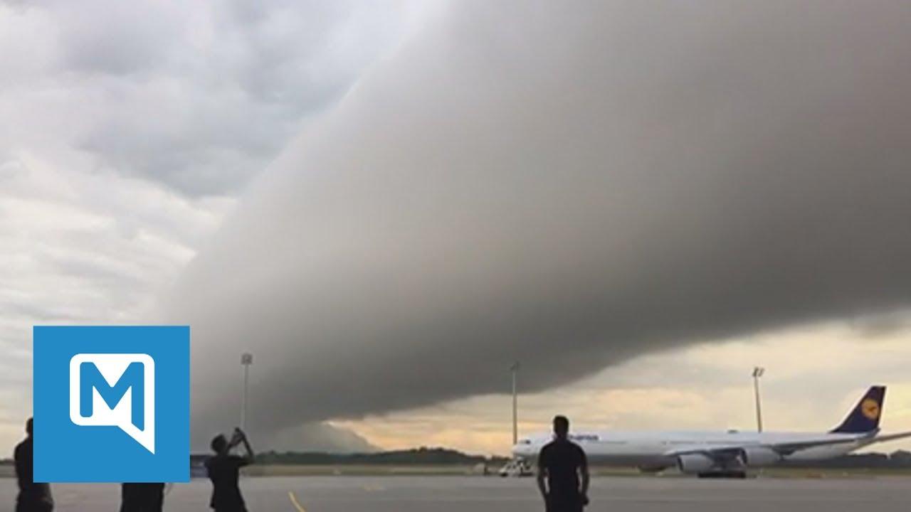 Un 'cilindro apocalíptico' aparece sobre el aeropuerto de Múnich | El Imparcial de Oaxaca