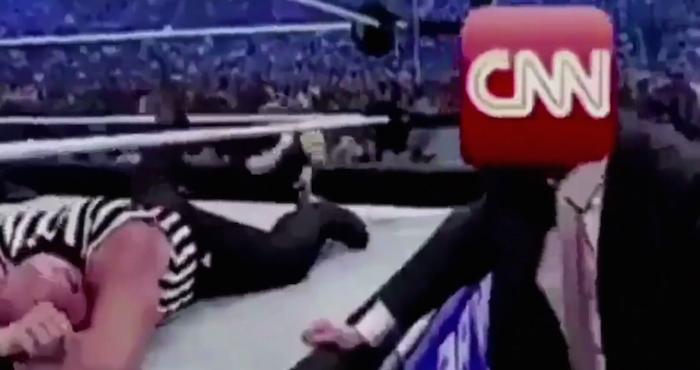 Donald comparte video de broma donde simula que golpea a CNN y se vuelve viral | El Imparcial de Oaxaca