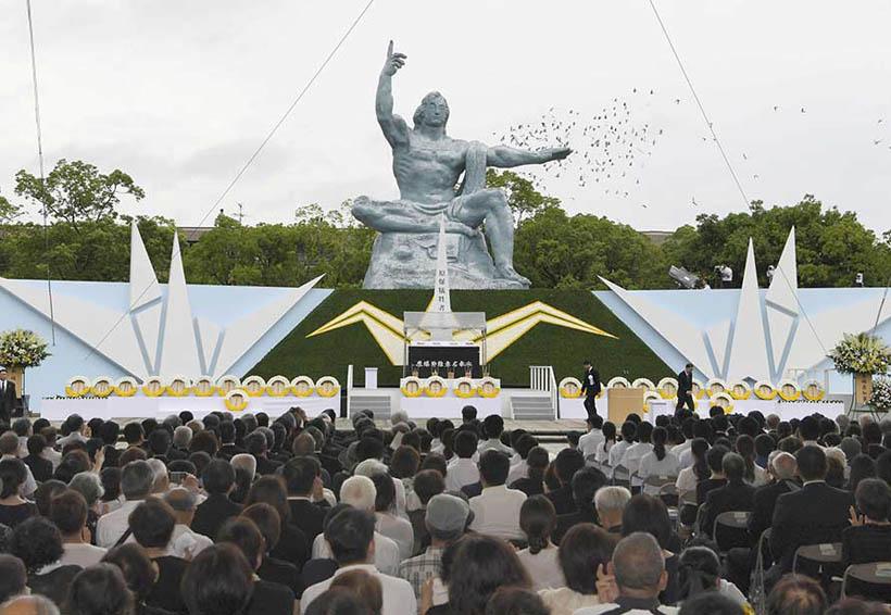 Nagasaki pide la paz mundial en aniversario del bombardeo atómico   El Imparcial de Oaxaca