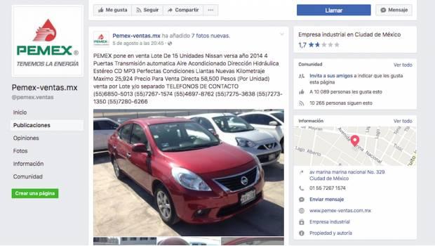 Alertan por fraude por venta de autos con perfiles falsos de Pemex en Facebook | El Imparcial de Oaxaca