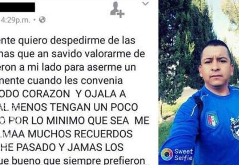 Se despide por facebook, lo encuentran sin vida media hora después   El Imparcial de Oaxaca