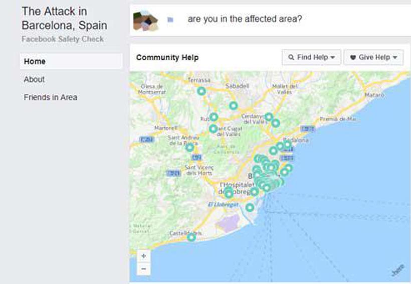 Facebook activa 'Safety Check' tras el atentado en Barcelona | El Imparcial de Oaxaca