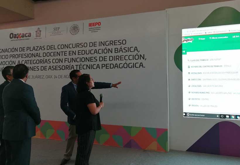 Por primera vez en acto oficial, entrega IEEPO plazas a docentes en Oaxaca   El Imparcial de Oaxaca