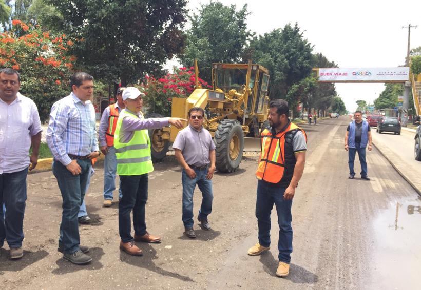 Rehabilitan tramo carretero Cerro del Fortín-Monumento a la Madre | El Imparcial de Oaxaca