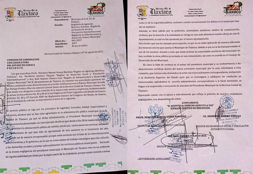 Denuncian ante congreso local al edil de Tlaxiaco | El Imparcial de Oaxaca