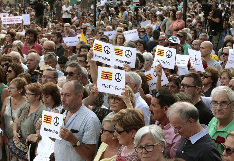 Medio millón de personas protestan en Cataluña contra el terrorismo | El Imparcial de Oaxaca