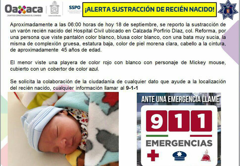 Reportan robo de recién nacido en el Hospital Civil de Oaxaca | El Imparcial de Oaxaca