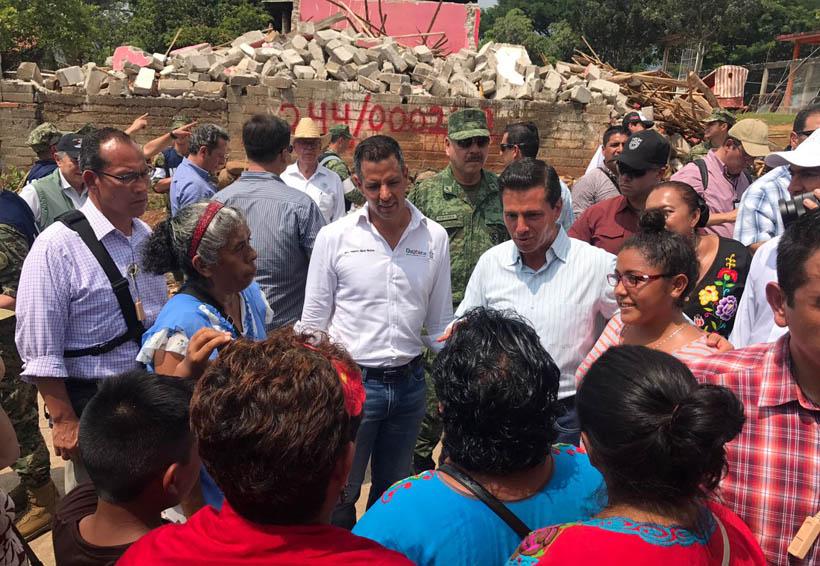 Recibirán damnificados del Istmo tarjetas bancarias: Peña | El Imparcial de Oaxaca