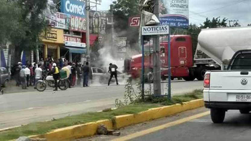 Choque deja un lesionado en el crucero de Hacienda Blanca, Oaxaca | El Imparcial de Oaxaca