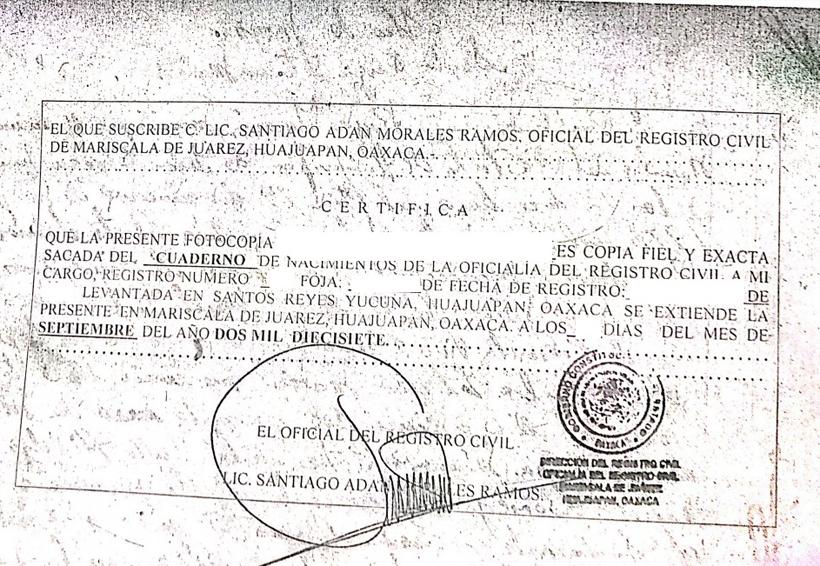 Sin formatos de actas de  nacimiento en Mariscala, denuncian ciudadanos   El Imparcial de Oaxaca