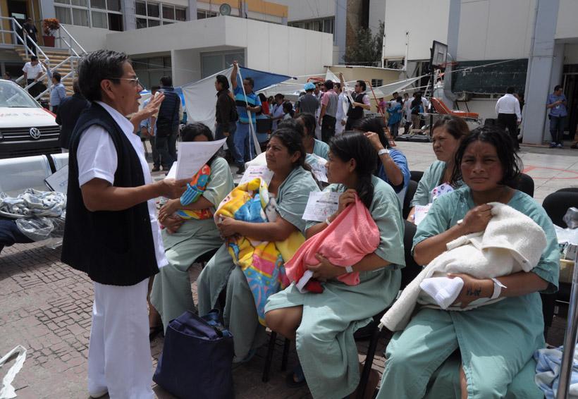 Tras sismo, evacúan a pacientes del Hospital Civil de Oaxaca | El Imparcial de Oaxaca