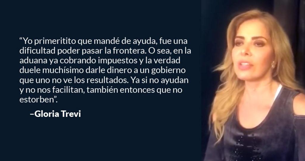 Si no ayudan no estorben: Gloria Trevi al Gobierno de México; mandó ayuda, le cobraron impuestos | El Imparcial de Oaxaca