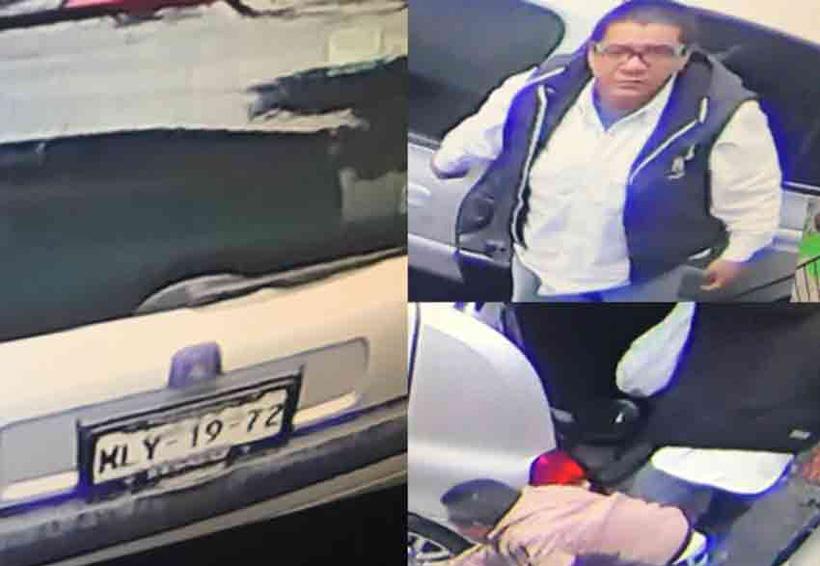 Video: Un hombre vigila mientras otro roba los faros de un auto   El Imparcial de Oaxaca