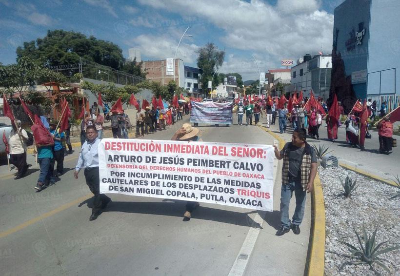 Marcha Sol Rojo para exigir respuesta a peticiones   El Imparcial de Oaxaca