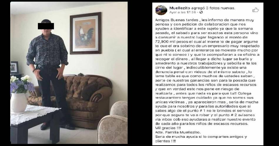 Consume 72 mil pesos en restaurante y va sin pagar; lo 'exhiben' en redes sociales   El Imparcial de Oaxaca