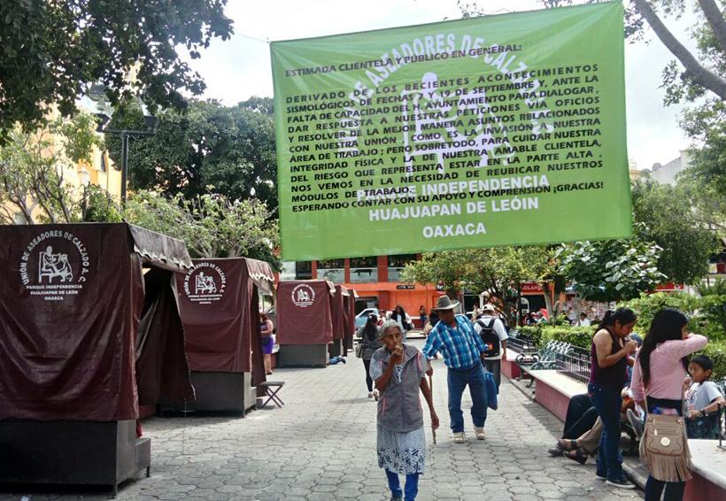 Advierten boleros de Huajuapan, Oaxaca que no  regresarán a su lugar anterior | El Imparcial de Oaxaca