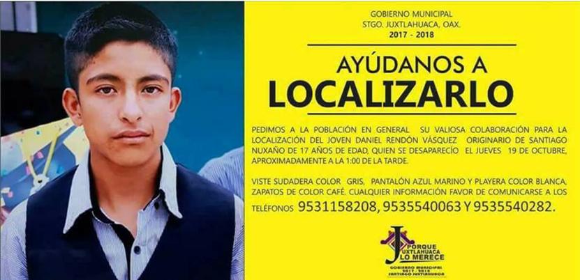 Buscan a adolescente desaparecido en Oaxaca | El Imparcial de Oaxaca