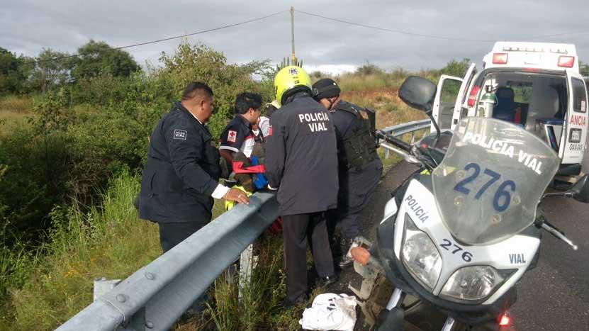 Se accidenta agente de vialidad en carretera federal rumbo a Miahuatlán, Oaxaca | El Imparcial de Oaxaca