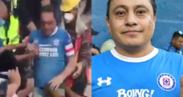 Un hombre que fue rescatado de los escombros con su jersey del Cruz Azul regresa a los estadios | El Imparcial de Oaxaca