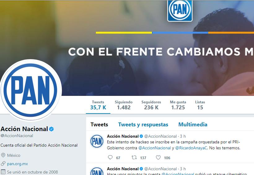 PAN denuncia hackeo en su cuenta de Twitter; culpa al PRI | El Imparcial de Oaxaca