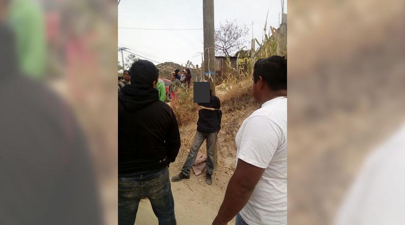 Lo atrapan vecinos de la colonia Solidaridad, Oaxaca; pretendían lincharlo   El Imparcial de Oaxaca