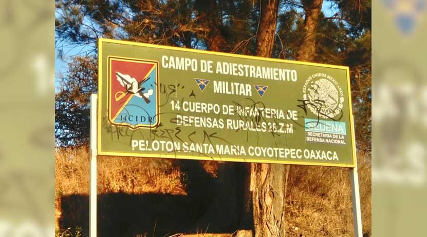 Sin control, campo de adiestramiento militar en Santa María Coyotepec, Oaxaca | El Imparcial de Oaxaca