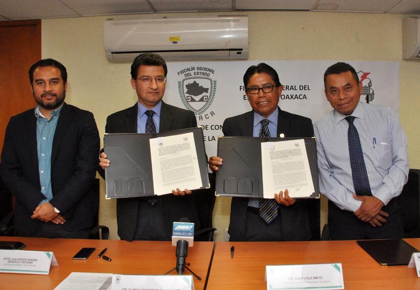 Firman convenio ITO y Fiscalía de Oaxaca | El Imparcial de Oaxaca