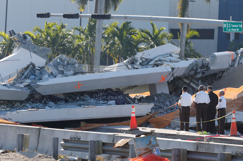 Puente que colapso en Miami deja hasta el momento un saldo de 6 muertos   El Imparcial de Oaxaca