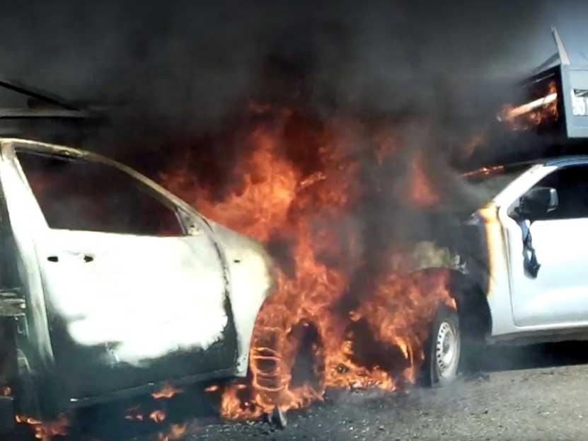 Choque y fuego en Huajuapan | El Imparcial de Oaxaca