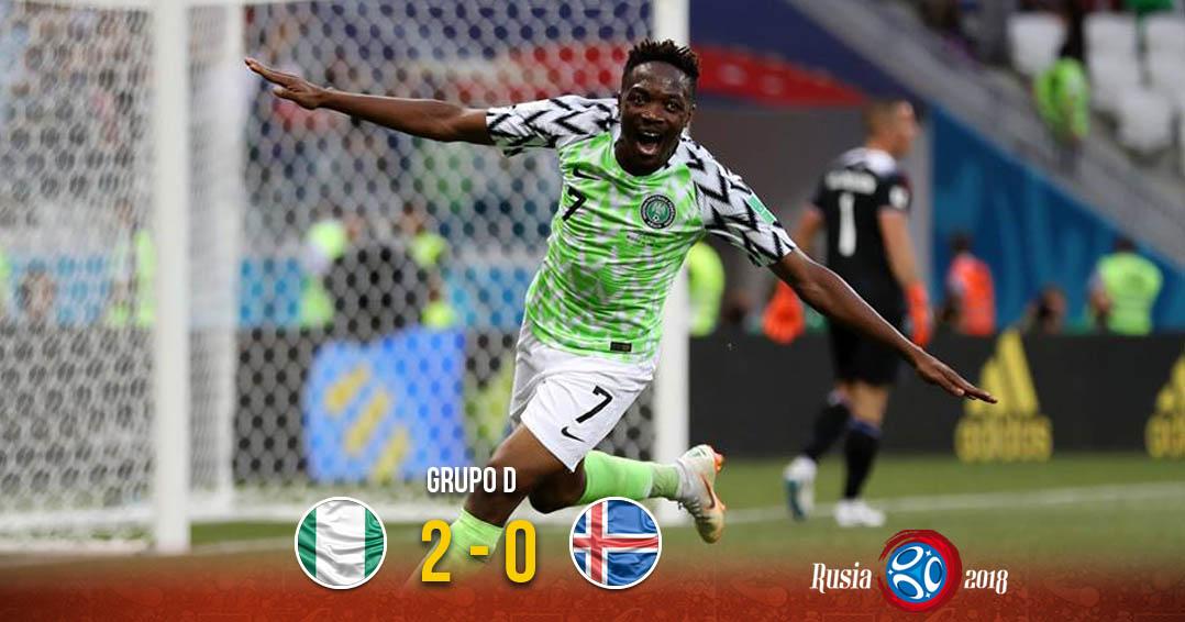 Nigeria sigue vivo y derrota a Islandia | El Imparcial de Oaxaca
