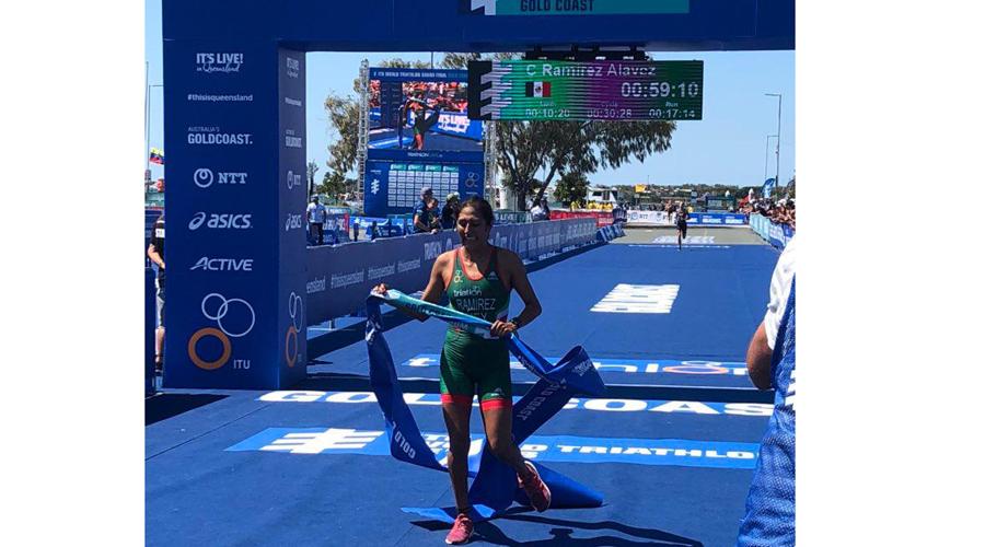 Triatleta oaxaqueña se impone en el World Triathol Gold Coast 2018 | El Imparcial de Oaxaca