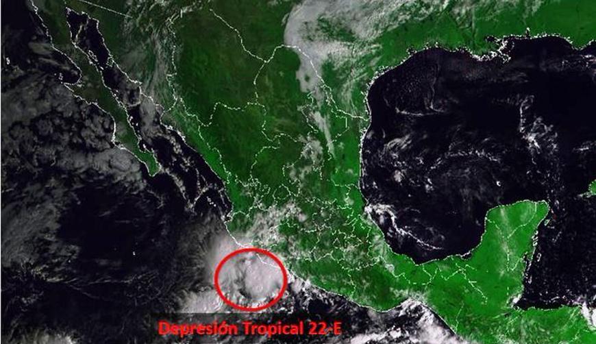 Se forma la depresión tropical 22-E frente a costas de Michoacán   El Imparcial de Oaxaca