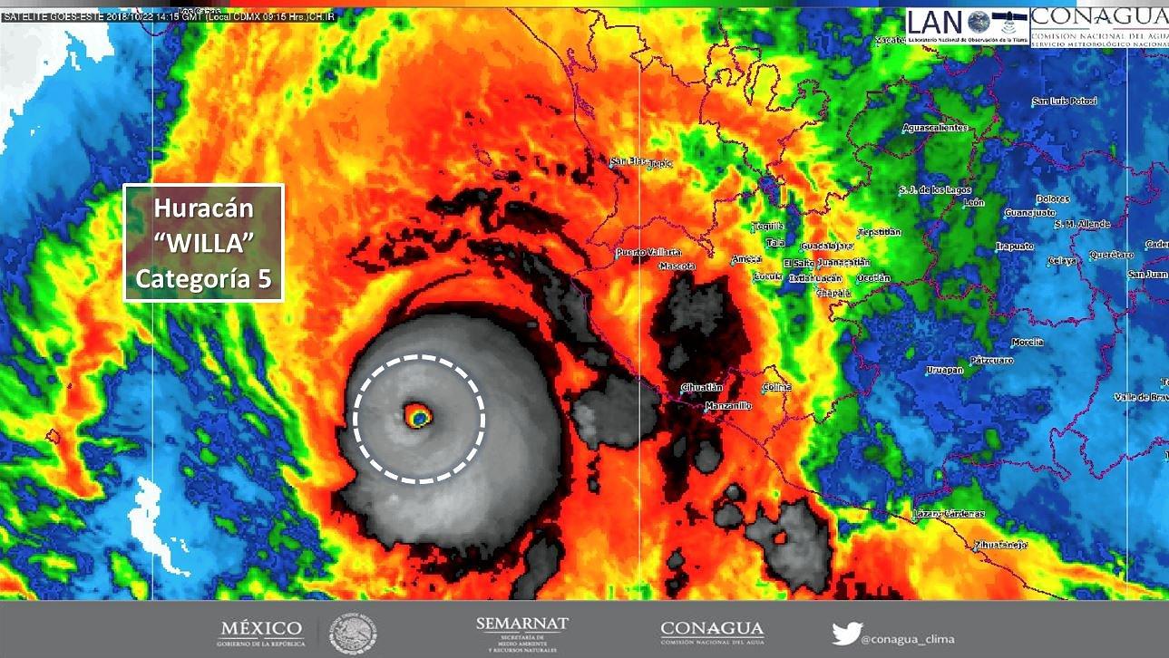 Huracan Willa se intensifica a categoría 5 frente a costas de Jalisco   El Imparcial de Oaxaca
