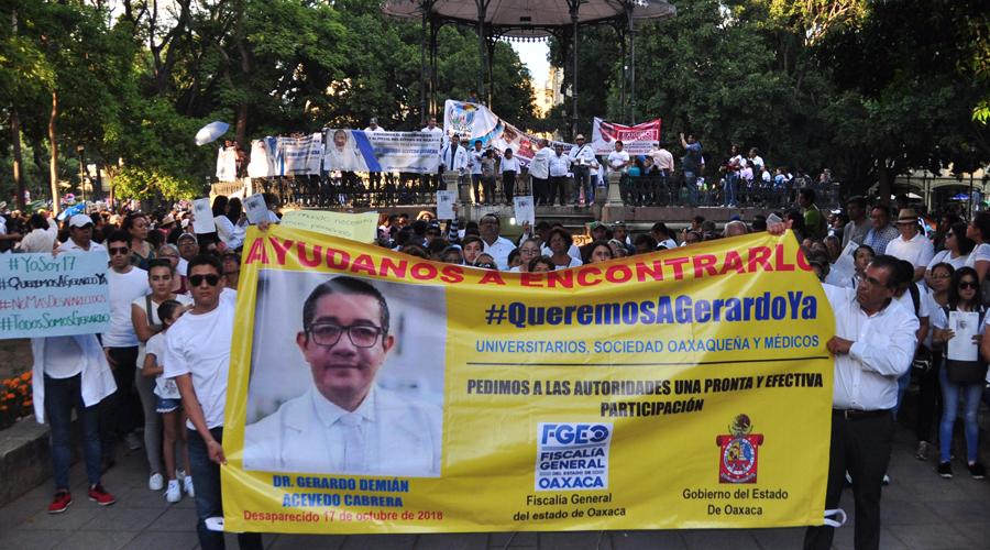 En Oaxaca exigen aparición  con vida de médico  Gerardo Acevedo | El Imparcial de Oaxaca