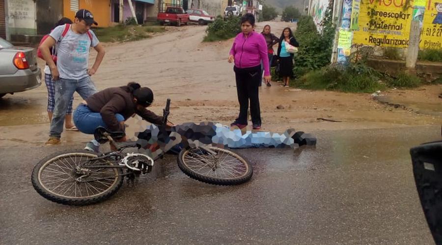 Atropellan a ciclista en Atzompa | El Imparcial de Oaxaca
