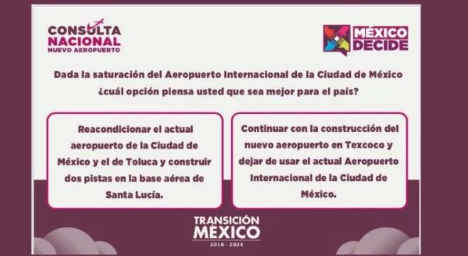 Lista la pregunta para la consulta popular sobre nuevo aeropuerto de la CDMX | El Imparcial de Oaxaca