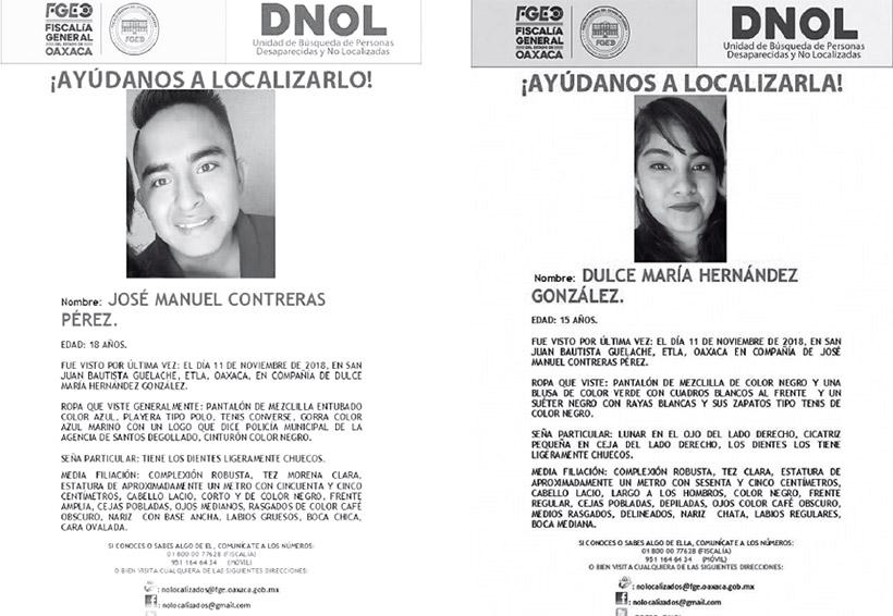Desaparece una pareja en Etla; familiares los buscan con desesperación   El Imparcial de Oaxaca