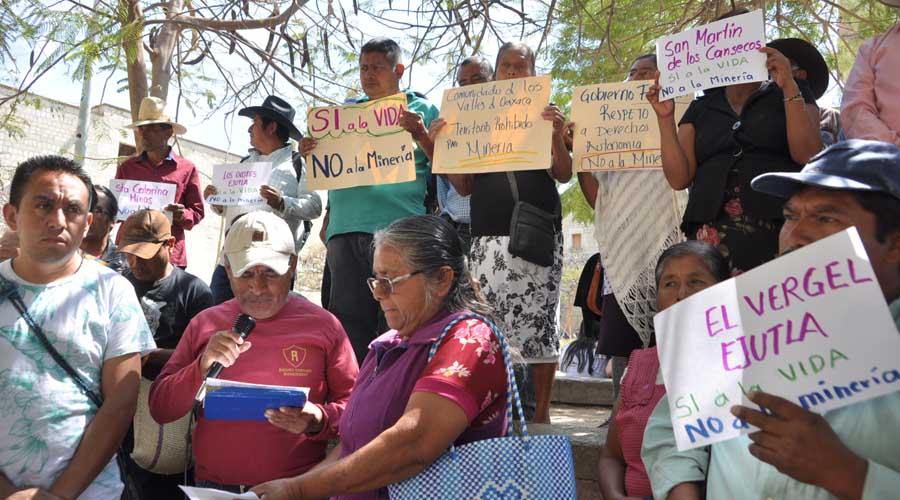 Oaxaca: piden cancelar concesión a minera