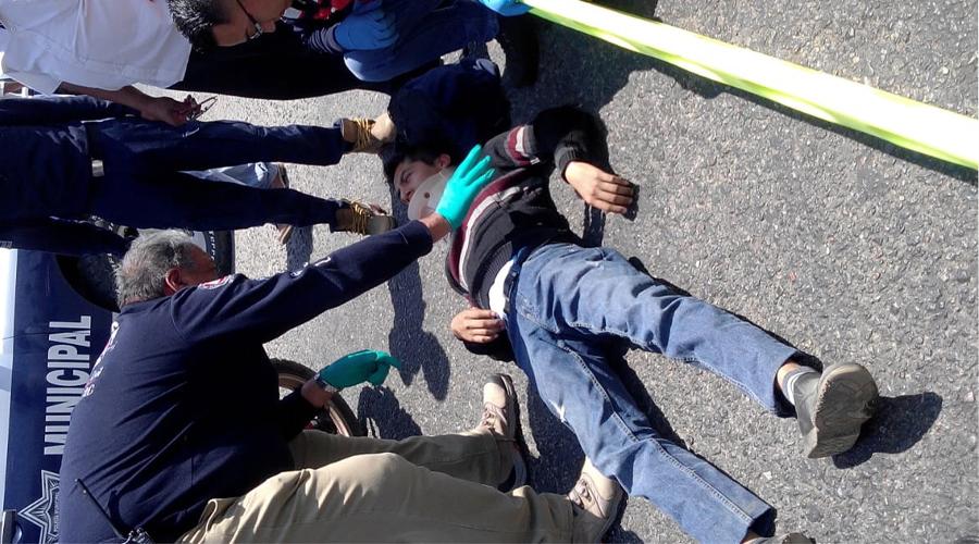 Atropella patrulla de la AEI a motociclista en Tlalixtac | El Imparcial de Oaxaca