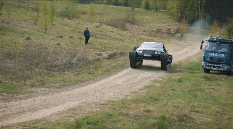 Mecánicos transforman un Bentley en un híbrido funcional con ruedas de tanque | El Imparcial de Oaxaca