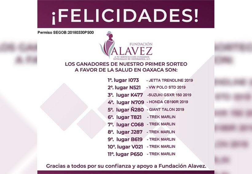 Realiza sorteo Fundación Alavez en Oaxaca | El Imparcial de Oaxaca