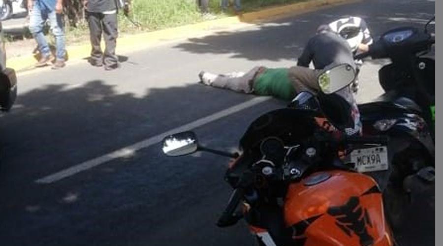 Atropellan a motociclista, responsable se escapa | El Imparcial de Oaxaca