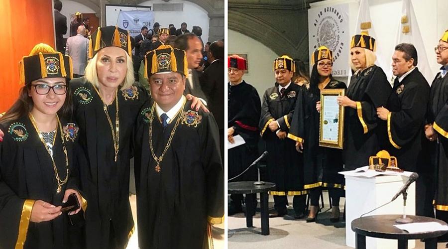 Laura Bozzo recibe doctorado Honoris Causa en la CDMX; Congreso se deslinda   El Imparcial de Oaxaca