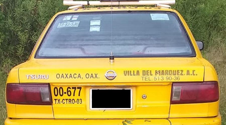 Desaparece taxista, abandonan unidad en San Javier Xoxocotlán | El Imparcial de Oaxaca