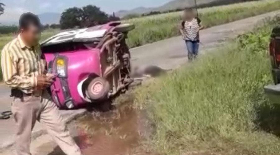 En accidente muere mototaxista en Tlapacoyan | El Imparcial de Oaxaca